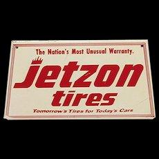 JETZON Tires Metal Advertising Sign