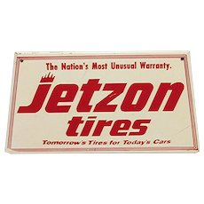 SOLD    See Others for SALE    JETZON Tires Metal Advertising Sign