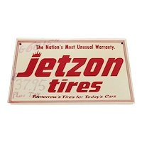 Jetzon Tires Metal Advertising Sign