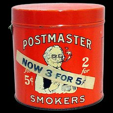 Advertising Tin Postmaster Cigar