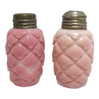 Salt and Pepper Shaker Set American Glass  1894 Cone Pattern Consolidated Lamp & Glass Co. SALE ENDS June 25