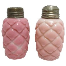 Salt and Pepper Shaker Set American Glass  1894 Cone Pattern Consolidated Lamp & Glass Co.