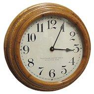 Solid Oak Step Back Antique Wall Clock