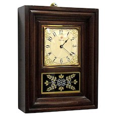 Miniature OG Wall or Shelf Clock Runs and Keeps Time By Telechron