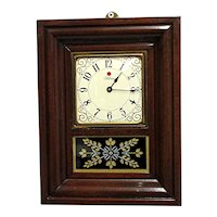 Miniature American Wall Clock Or Mantel Clock Runs and Keeps Time