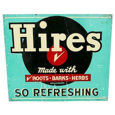 Hires Root Beer Metal Advertising Sign