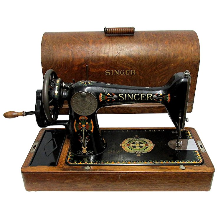 SOLD Singer Sewing Machine In Bentwood Case Model 40 Drury House Impressive Singer Sewing Machine 66