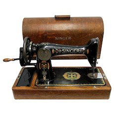 Singer Sewing Machine  in Bentwood Case Model 99