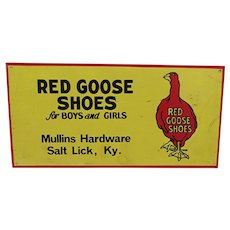 Red Goose Shoes  Metal Advertising Sign