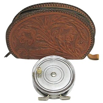 Tooled Leather Fly Fishing Reel Case