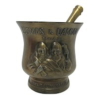 Mortar and Pestle Cosmas and Damian Matched Two Piece Set by Schering