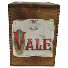 Wood Dovetail Advertising Box with Vale Label