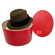 Stetson Miniature Hat Box with  Sample Fedora