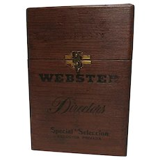 Webster Directors Wood Cigar Box Advertising Counter Top Display