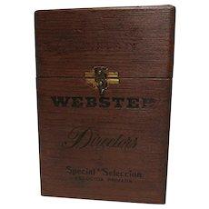Webster Directors Wood Cigar Box Advertising Counter Top Display