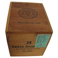 Cigar Wood Box  for 25 Santa Damiana  Brand Counter Top Retail Display