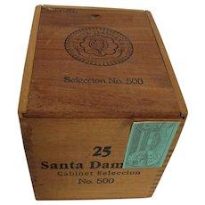 Cigar Wood Box  for 25 Santa Damiana  Brand Counter Top Retail Display