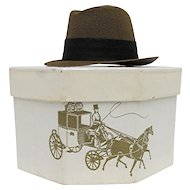Miniature Fedora in Original Dobbs Hat Box