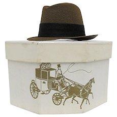 Miniature Fedora in Original Dobbs Hat Box