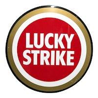 """Advertising Metal Sign Lucky Strike Cigarette 27 """" Diameter"""