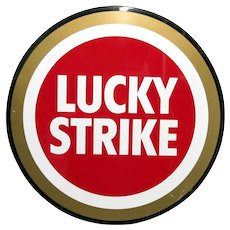 "Advertising Metal Sign Lucky Strike Cigarette 27 "" Diameter"