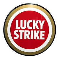 "Advertising Sign Lucky Strike Cigarette 27 "" Diameter Metal Sign"