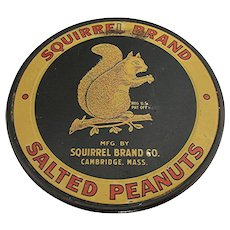 Squirrel Brand Advertising Glass Jar Counter Top Display