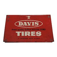 Automotive Advertising Sign For Davis Tires