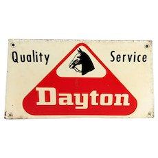 Dayton Tire Metal Advertising Sign