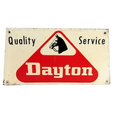 Dayton Tire Metal Advertising Sign