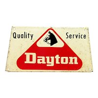 Metal Car Advertising Sign For Dayton Tire