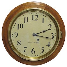 "Antique Seth Thomas Large 16"" Diameter Wall Clock"