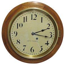 "Antique Seth Thomas Large 16"" Diameter Wall Clock"