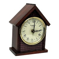 Walnut Mantel Clock Runs and Keeps Time Mantle Clock