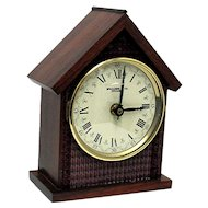 Walnut Mantel Clock Runs and Keeps Time