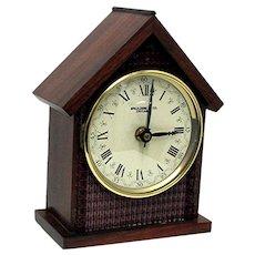 Walnut Mantel Clock Runs and Keeps Time
