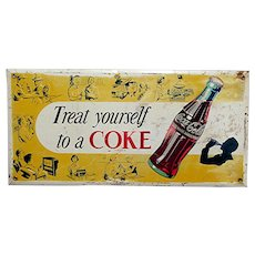 SOLD   See other Signs on SALE  Coca Cola Advertising Metal Sign