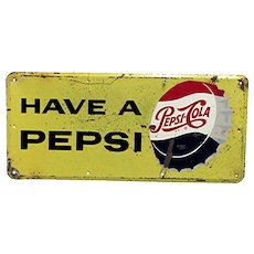 Pepsi Cola Metal Advertising Sign