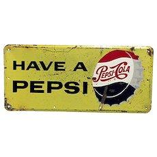 Pepsi Cola Metal Advertising Sign