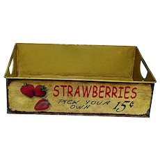 Advertising Farm Stand  Metal Tray for Strawberry Picking