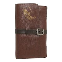 Fly Fishing Wallet Leather with 14 Streamers