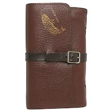 Leather Fly Fishing Wallet with 14 Flies