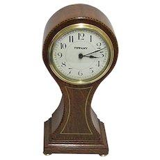 Antique Inlaid Tiffany Balloon Mantel Clock