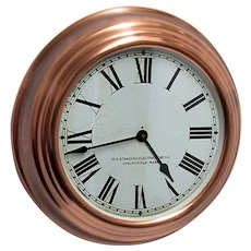 Solid Copper Large Round Gallery Wall Clock Runs and Keeps Time 2