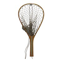 Child's Wood Frame Fishing Net Near MINT