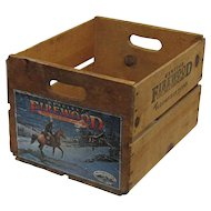 Wood Advertising Box Bloomfield Farms Santa Clara California Crate