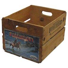 Wood Advertising Box Bloomfield Farms Santa Clara California Crate