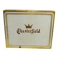Advertising Tin Chesterfield Flat Fifty Cigarette Pocket Tin
