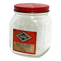 Glass Storage Jar Advertising For Woodward-Wanger Co. Philadelphia