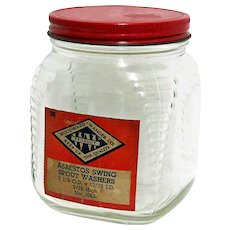 Glass Storage Jar Advertising For Woodward-Wanger Co. Philadelphia